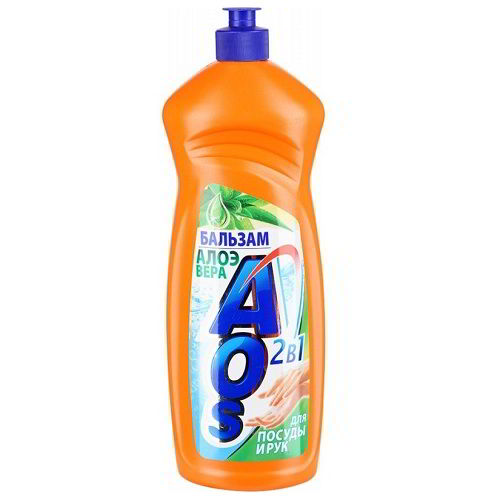 Средство для мытья посуды AOS Бальзам Алое Вера 1 л