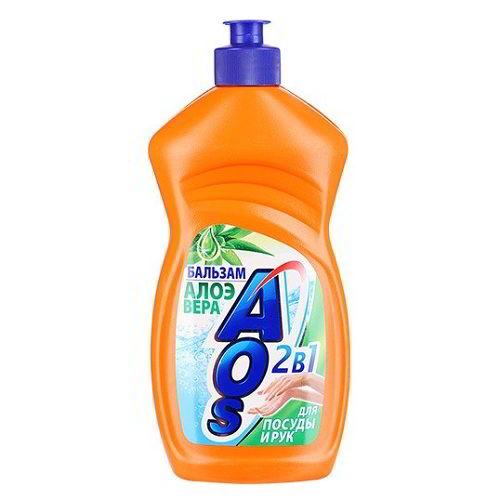 Средство для мытья посуды AOS Бальзам Алое Вера 500 мл