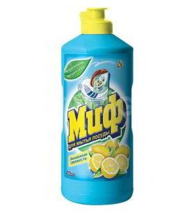 Средство для мытья посуды Миф Лимонная свежесть 500 мл