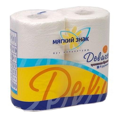 Туалетная бумага Мягкий знак Deluxe 4 шт