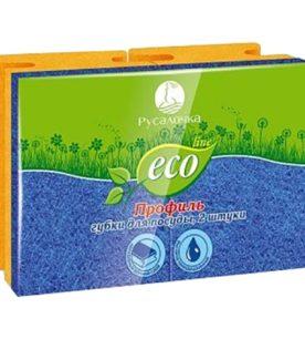 Губки для посуды Русалочка Eco Line 2 шт оптом