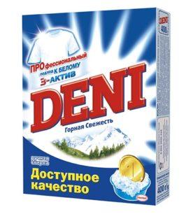 Стиральный порошок для ручной стирки Deni Горная свежесть 400 г оптом