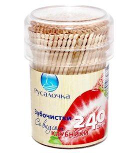 Зубочистки Русалочка Со вкусом клубники 240 шт оптом