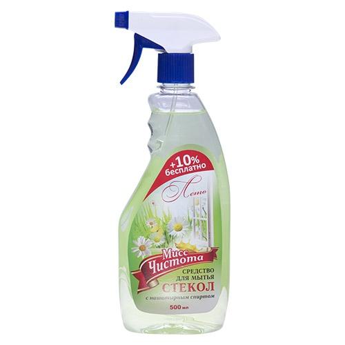 Моющее средство для стекол Мисс Чистота Лето 500 мл оптом
