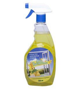Моющее средство для стекол Мисс Чистота Лимон 750 мл оптом
