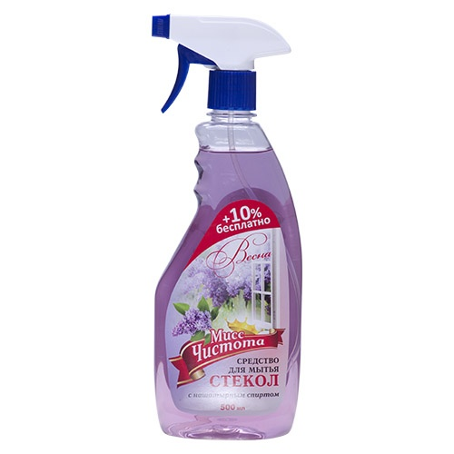Моющее средство для стекол Мисс Чистота Весна 500 мл оптом