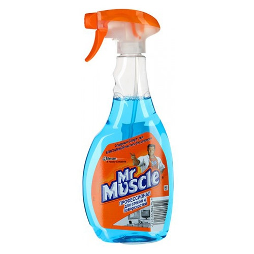 Моющее средство для стекол Mr. Muscle Со спиртом  500 мл оптом
