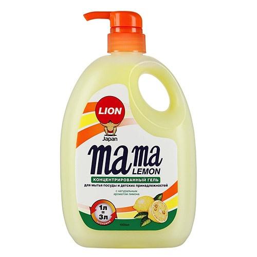 Средство для мытья посуды MAMA LEMON С натуральным ароматом лимона 1 л оптом