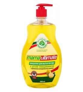 Средство для мытья посуды MAMA ULTIMATE С ароматом натурального лимона 1 л оптом