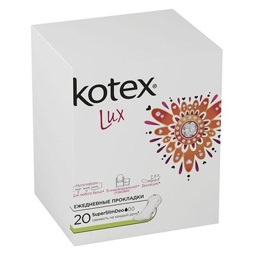 Ежедневные прокладки Kotex Lux SuperSlim Deo 20 шт оптом