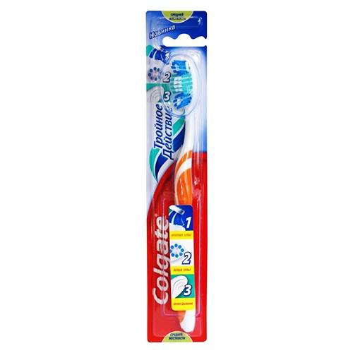 Зубная щетка Colgate Тройное действие 1 шт оптом