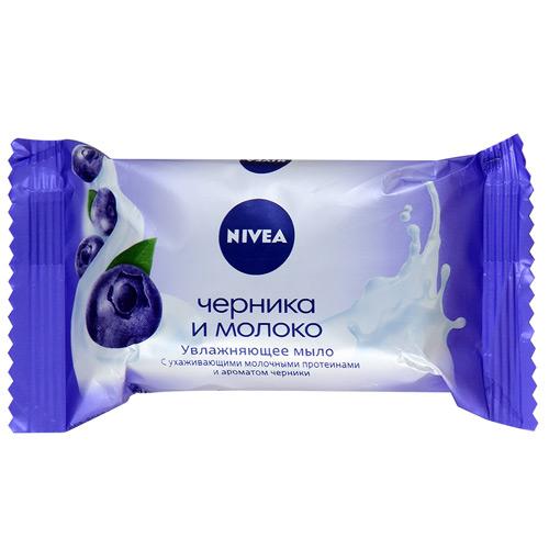 Мыло NIVEA Черника и молоко 90 г оптом