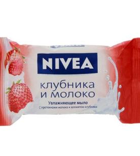 Мыло NIVEA Клубника и молоко 90 г оптом