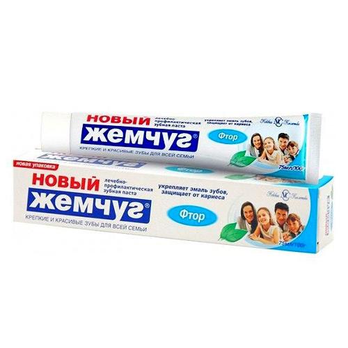Зубная паста Новый Жемчуг Фтор 100 мл оптом