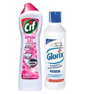Чистящий крем Cif Лиловая свежесть + Глорикс 500 мл оптом