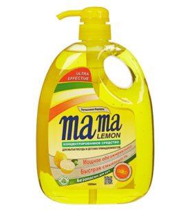 Средство для мытья посуды MAMA LEMON Gold 1 л оптом