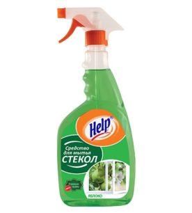 Средство для мытья стекол Help Яблоко
