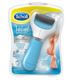 Электрическая роликовая пилка для стоп SCHOLL Velvet Smooth with Diamond Crystal 1 шт оптом