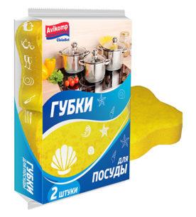 Губка для посуды CleinSet Ракушка фигурная 2 шт оптом