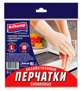 Латексные перчатки Glov PROFESSIONAL Виниловые р.L 10 шт оптом