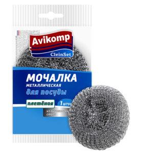Мочалка для посуды CleinSet Металлическая плетёная 1 шт оптом