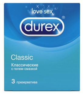 Презервативы DUREX Classic 3 шт оптом