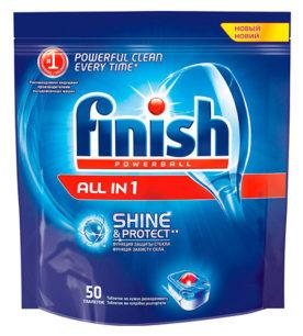 Таблетки для посудомоечных машин Calgonit finish Quantum All in 1 50 шт оптом