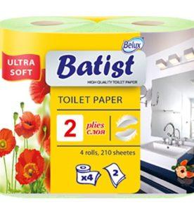 Туалетная бумага BATIST 2х-слойная
