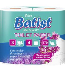 Туалетная бумага BATIST 3х-слойная
