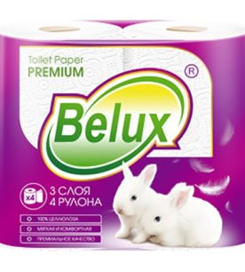Туалетная бумага Belux Белая