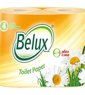 Туалетная бумага Belux Персиковая
