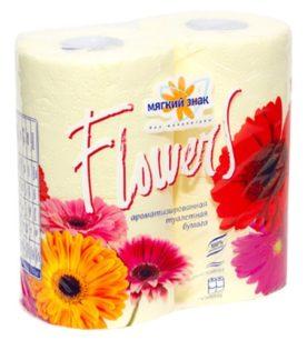Туалетная бумага Мягкий знак Flowers