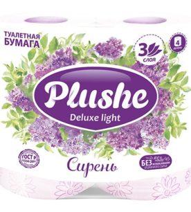 Туалетная бумага Plushe Delux Light 3-х слойная