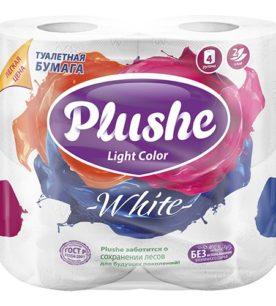 """Туалетная бумага Plushe Light Color """"White"""""""