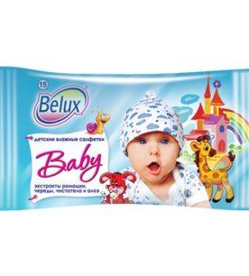 Влажные салфетки Belux Baby 15 шт оптом