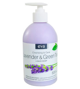 Жидкое мыло Eva Natura Лаванда и Зеленый чай 500 мл оптом