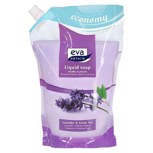 Жидкое мыло Eva Natura Лаванда и Зеленый чай