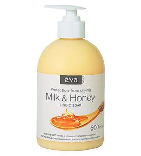 Жидкое мыло Eva Natura Молоко и Мед 500 мл оптом