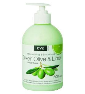 Жидкое мыло Eva Natura Зеленая Олива и Лайм 500 мл оптом