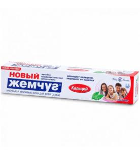 Зубная паста Новый Жемчуг Кальций 100 мл оптом
