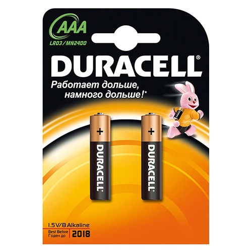 Батарейки Duracell Тип AAA 2 шт оптом