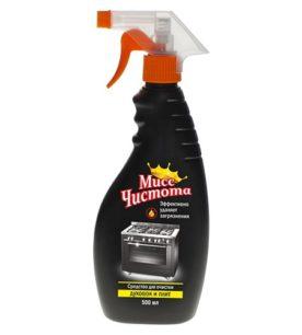 Чистящее средство Мисс Чистота Для очистки духовок и плит 500 мл оптом