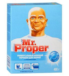 Чистящий порошок Mr.Proper Универсал с отбеливателем 400 г оптом