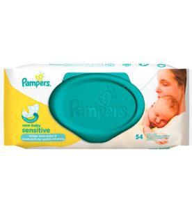 Детские влажные салфетки Pampers New Baby Sensitive 54 шт оптом