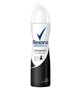 Дезодорант спрей Rexona Невидимая на черном и белом 150 мл оптом