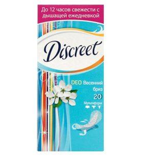 Ежедневные прокладки Discreet Deo Spring Breeze 20 шт оптом