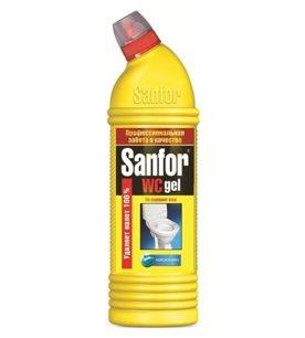 Гель для чистки туалета Sanfor Морской бриз