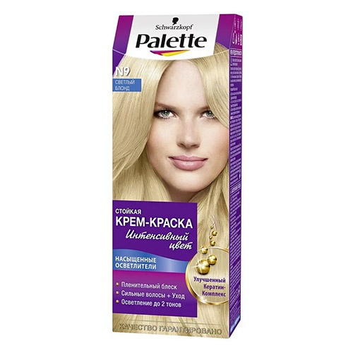 Краска для волос Palette №9 Светлый блондин 110 мл оптом