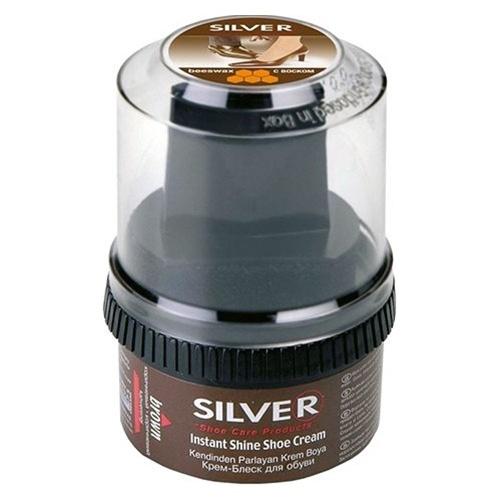 Крем-блеск для обуви Silver Instant shine shoe cream