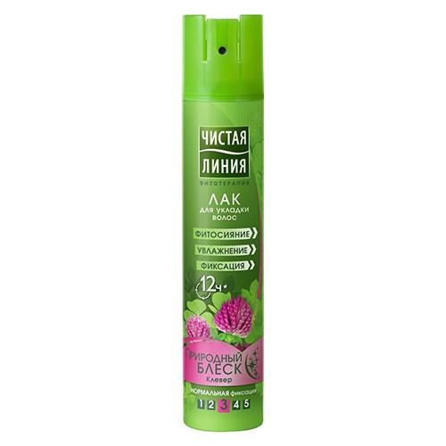 Лак для волос Чистая линия Природный блеск 200 мл оптом